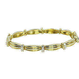 Tiffany & Co. 18K Yellow Gold with 1.65ct Diamond 1992 Signature II Bracelet