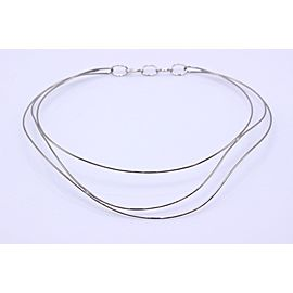 Tiffany & Co. Elsa Peretti 18K White Gold Necklace