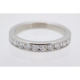 Tiffany & Co. Platinum Diamond Wedding Ring Size 3.75