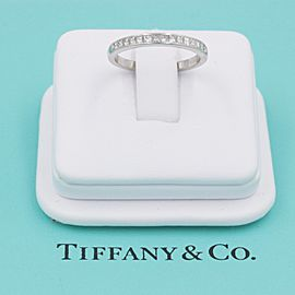 Tiffany & Co. Platinum Diamond Wedding Ring Size 7.5