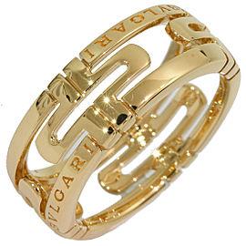 Bulgari 18K Yellow Gold Ring Size 7.5