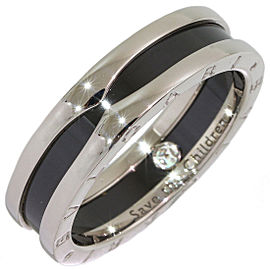 Bvlgari Sterling Silver Ceramic Ring Size 11.5