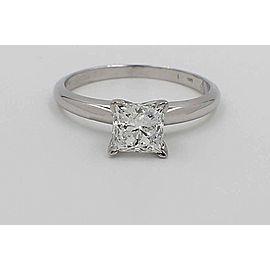 Leo Diamond Engagement Ring Princess Cut 0.98 ct 14k White Gold