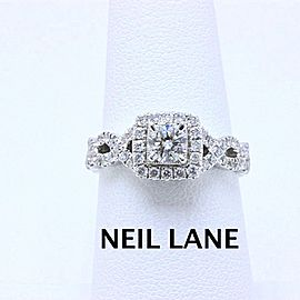 Neil Lane Diamond Engagement Ring Twisted Band 1.00 tcw 14k White Gold $3,300
