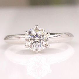Tiffany & Co. Platinum Diamond Engagement Ring Size 5.5