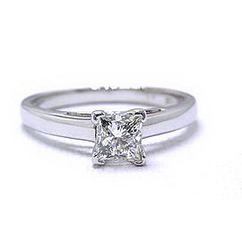 Leo Diamond Engagement Ring Princess 0.83 ct I SI1 14k White Gold