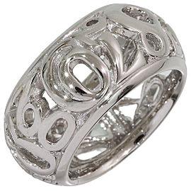 Franck Muller 18K White Gold Ring Size 5.75