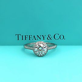 Tiffany & Co. Platinum Diamond Engagement Ring Size 6.25
