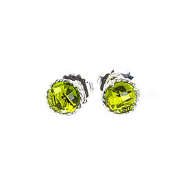 David Yurman Chatelaine Sterling Silver Peridot Earrings
