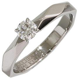 Boucheron Platinum Diamond Ring Size 5.75