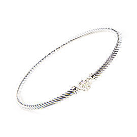 David Yurman Cable Collectibles Sterling Silver Diamond Bracelet