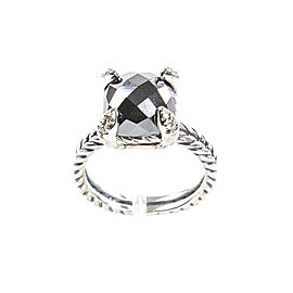 David Yurman Chatelaine Hematine Diamond Ring Size 7