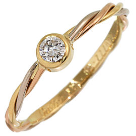 Cartier Trinity 18k 3-Gold Diamond Ring Size 6.25