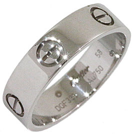 Cartier Love Ring 18K White Gold Size 8.5