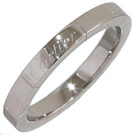Cartier Lanieres 18K White Gold Wedding Ring Size 6.75