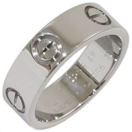 CCartier Love Ring 18K White Gold Size 5