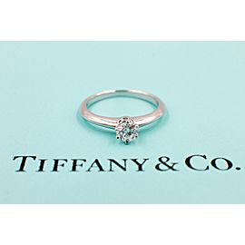 Tiffany & Co. Platinum Diamond Engagement Ring Size 4.25