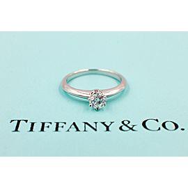 Tiffany & Co. Platinum Diamond Engagement Ring Size 4.25