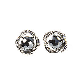 David Yurman Sterling Silver Hematine Infinity Earrings