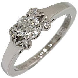 Cartier Ballerine Platinum Diamond Ring Size 3.75