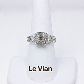 Le Vian 14K White Gold Diamond Engagement Ring Size 7.75