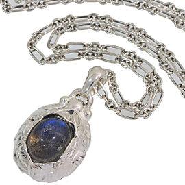 Georg Jensen Sterling Silver Labradorite Pendant Necklace