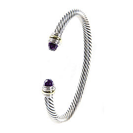 David Yurman Cable Classics 14K Yellow Gold, Sterling Silver Amethyst Bracelet