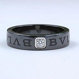 Bulgari Ceramic Diamond Ring Size 7.5