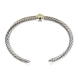 David Yurman Renaissance 14K Yellow Gold, Sterling Silver Chrome Diopside Bracelet