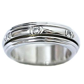 Piaget 18K WG 7P Diamond Ring Size 4.5