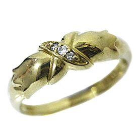 Christian Dior 18K YG Diamond Ring Size 4.75