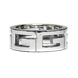 Gucci 18K WG logo multiple Ring Size 4.75