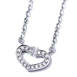 Cartier 18K WG Diamond C Heart Necklace