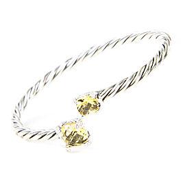 David Yurman Chatelaine Sterling Silver Citrine Diamond Bracelet