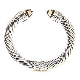 David Yurman Cable Classics Sterling Silver Smoky Quartz Bracelet