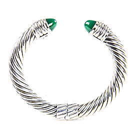 David Yurman Cable Classics Sterling Silver Green Onyx Bracelet