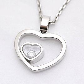 Chopard 18K WG Diamond Happy Necklace