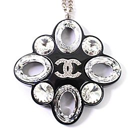 Chanel Sterling Silver Pendant Necklace
