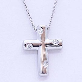 Tiffany & Co. Platinum Diamond Cross Necklace