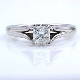 Vera Wang 18K White Gold Diamond Engagement Ring Size 6.25