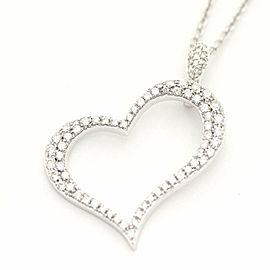 Piaget 18K WG Diamond Heart Limelight Necklace