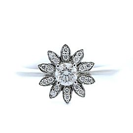 Tiffany & Co. Platinum Diamond Enchanted Flower Ring Size 4.75