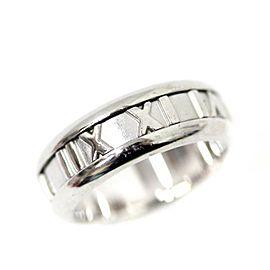 Tiffany & Co. Atlas 18K White Gold Ring Size 5.5