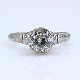 Old European Cut Diamond Engagement Ring 1.05 cts