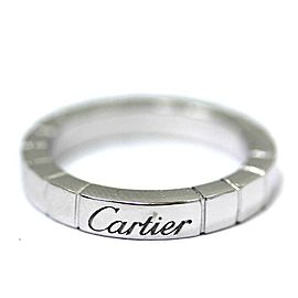 Cartier Lanieres Ring 18K White Gold Size 3.5