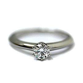 Tiffany & Co. Platinum Diamond Solitaire Ring Size 3.5