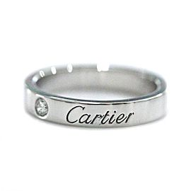 Cartier Ring Platinum Diamond Size 3.25