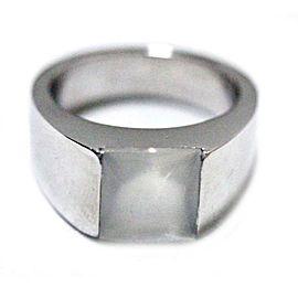 Cartier Tank Ring 18K White Gold Moonstone Size 4