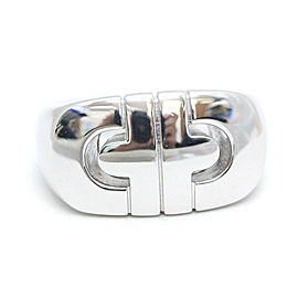 Bulgari 18K White Gold Valentesis Ring Size 5.25
