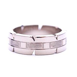 Cartier Tank Francaise Ring 18K White Gold Size 4.5